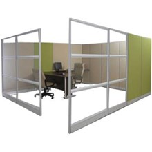 Office partitions Frameless