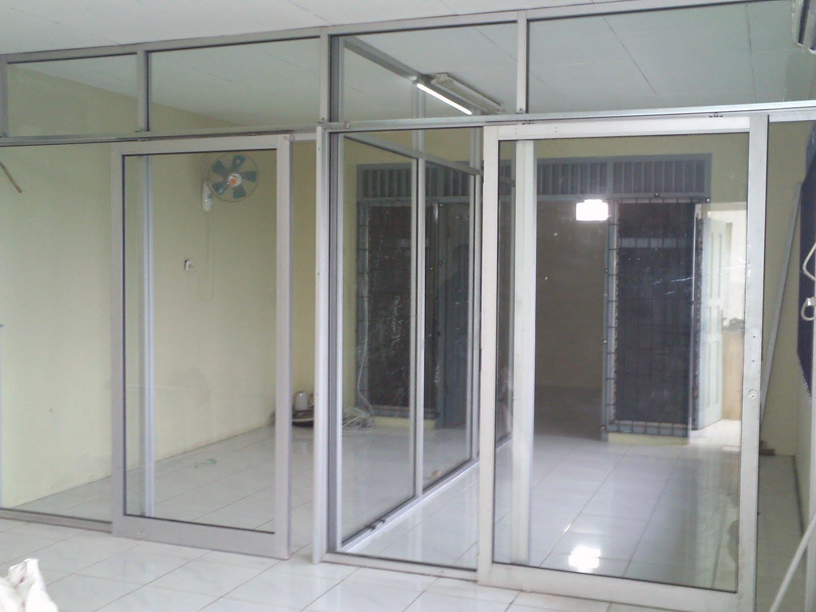 Jual Partisi Kantor Aluminium Kaca Harga Murah Jakarta