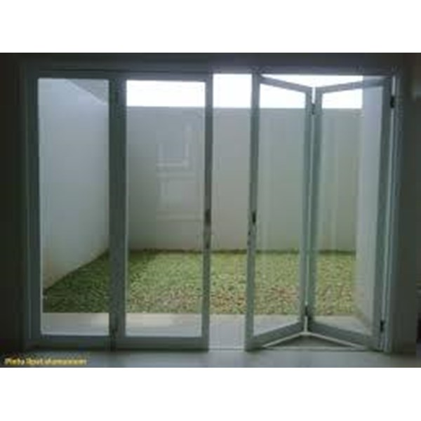 Folding partition or folding door