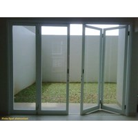 Aluminium Kaca Pintu Partisi Gipsum Glass work