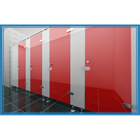 Partisi Toilet Phenolic Cubicle Glass Sekat  PVC 1