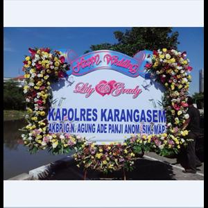 Rangkaian Bunga Papan Pernikahan Murah di Surabaya