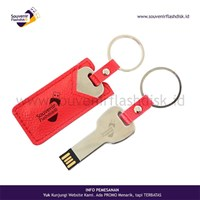 Jual Barang Promosi Perusahaan Flashdisk Kulit Kunci Custom Promosi 4Gb - 100Pcs Ada Cabang Di Jakarta Bekasi Yogyakarta