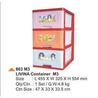 livina plastic drawer stack 3-5