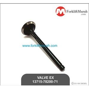 VALVE EX FORKLIFT TOYOTA PART NO 13715-78200-71