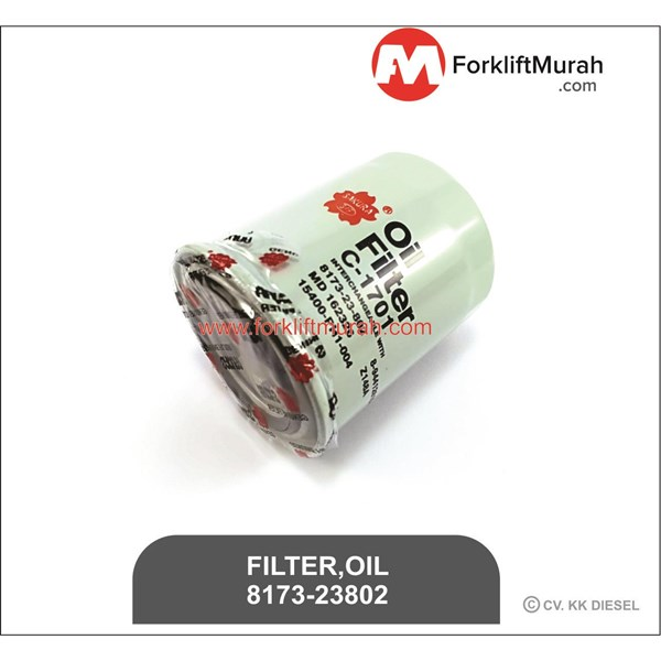 FILTER OLI FORKLIFT PART NUMBER 8173-23802