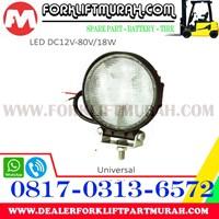 LAMP ASSY LED FORKLIFT DC12V 80V 18W Murah 5