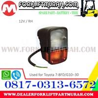 Jual LAMP ASSY FORKLIFT ORANGE TOYOTA G10 30 12V RH 2