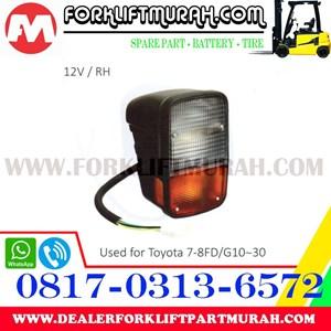 LAMP ASSY FORKLIFT ORANGE TOYOTA G10 30 12V RH