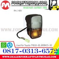 Jual LAMP ASSY FORKLIFT ORANGE TOYOTA 8FBN15 2