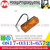 Jual LAMP ASSY FORKLIFT ORANGE TCM FD G20 12V 2