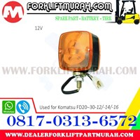 Jual LAMPU SIGNAL  ORANGE FORKLIFT KOMATSU FD20 30 12 14 16 12V 2
