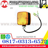 Distributor LAMPU SIGNAL FORKLIFT ORANGE MAXIMAL FD20 40 12V 3