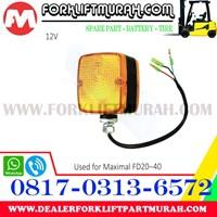 Jual LAMPU SIGNAL FORKLIFT ORANGE MAXIMAL FD20 40 12V 2