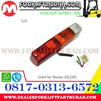 Distributor LAMPU SIGNAL BELAKANG FORKLIFT NISAN J01 J02 12V 3