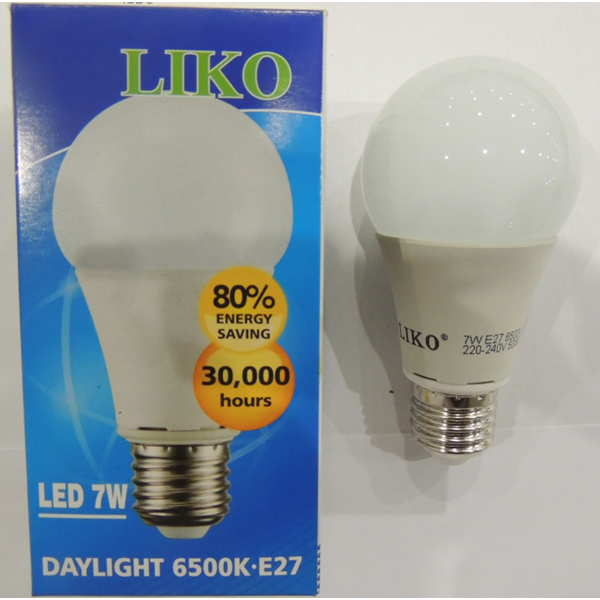 Lampu Bohlam Liko Daylight 6500K-E27 LED 7W
