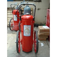 Pemadam Api dry chemical powder wheel carring dengan gas pendorong N2