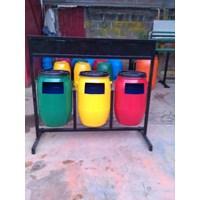 Jual Tong Sampah Drum Plastik 3 Pilah