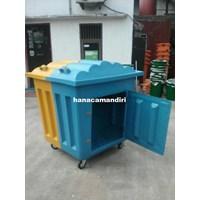 Tempat sampah fiberglass 1000 liter 1