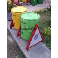 Beli Tong Sampah Drum Plat 4