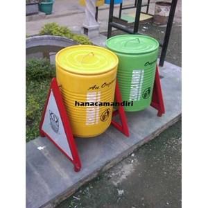 Tong Sampah Drum Plat