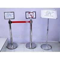 Beli Tiang Display Stainless Poster Stand Floor Standing Sign Tiang Display Informasi Frame Acrylic 4