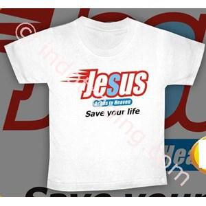 Kaos Jesus Putih