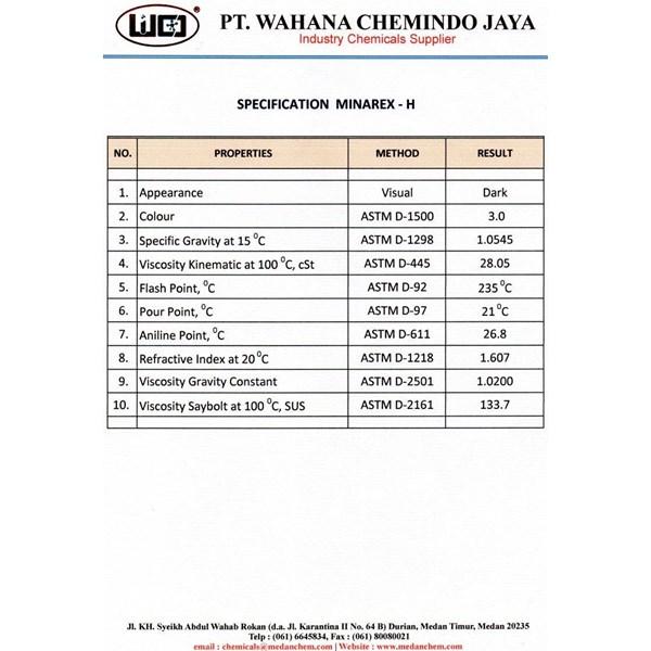 Process Chemical Minarex H (Rubber Processing Oil)