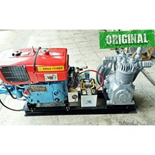 Air Compressor High Pressure 7.5Hp + Engine Diesel With Electrical Starter Kompresor Selam