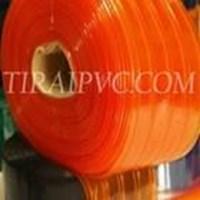 Tirai PVC Curtain Ribbed Orange (Meilia 087775726557)