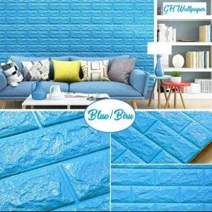 Dari Wallpaper Sticker Biru 0