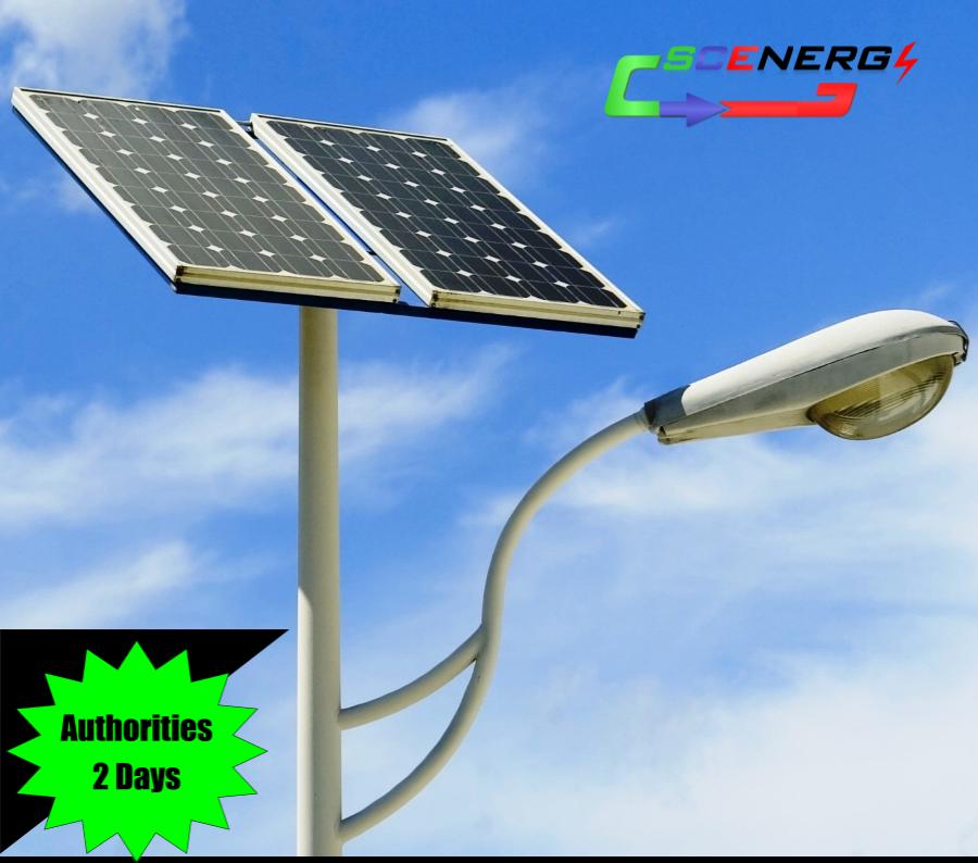 Jual Lampu Jalan Pju Tenaga Surya 70 Watt 220 Vac 7m