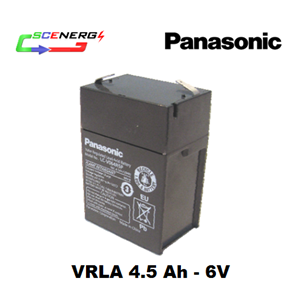 Battery PANASONIC VRLA 4.5 Ah - 6V