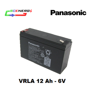 Battery PANASONIC VRLA 12 Ah - 6V