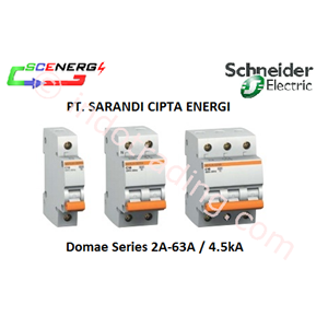 MCB Schneider 2A-63A  1P-3P  4.5kA (Domae)