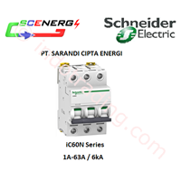 MCB Scheneider 1A-63A  1P-3P  4.5kA (iC60N) 1