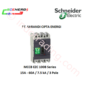 MCCB Schneider 15A - 60A  7.5kA 3P (EZC 100B)
