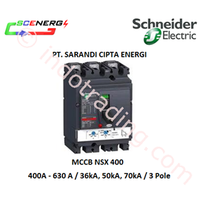 MCCB Schneider 400A - 630A  (NSX 400 NFH)