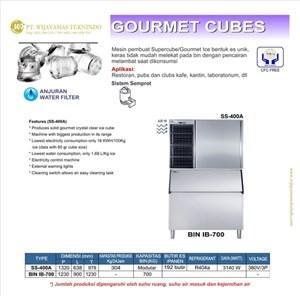 Dari Mesin Pembuat Es Gourmet / Gourmet Cubes / SS-400A / BIN IB-700 0
