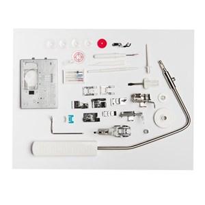 Dari Janome mc8900qcp Quilting SE Mesin Jahit Quilting Komputer Long Arm Model - Biru Putih 3