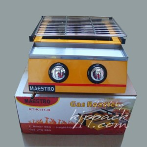From Mesin Pemanggang Gas Roaster BBQ Kompor 2 Tungku ET K111 B 0