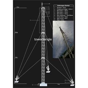 Dari Antena Digital Tower Tri angle 6