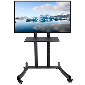 Dari Bracket TV Looktech 65S TV Stand Mount dgn Roda 32'-65