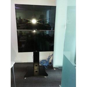 Dari  Standing Bracket TV led Plat kupu kupu berdiri  (2 LCD LED TV) 6
