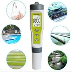 Dari PH EC Temperature Meter EZ Tester ATC EZ Waterproof Temp Suhu Alat Laboratorium Air  0