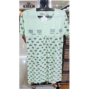 From Green Short  Sleeve Cartoon Pattern Dress 0