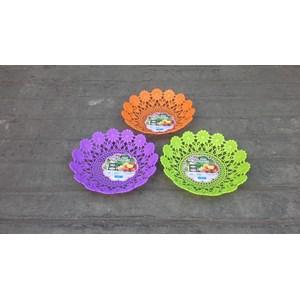 Dari Piring anyaman plastik tipe flower kode 5506 Dx produk Lucky Star warna ungu 3