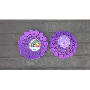 Dari Piring anyaman plastik tipe flower kode 5506 Dx produk Lucky Star warna ungu 0