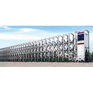 Dari Stainless Steel Electronic Retractable Folding Gate Xy-01 0