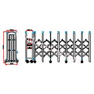 Dari Stainless Steel Electronic Retractable Folding Gate Xy-01 1